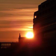 Sun - Sunset in Paris #febphotoaday  - @din0u- #webstagram