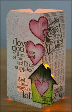 Gearing Up for Valentine's Day - Club Scrap #lovequotes #valentines #luminary #funny