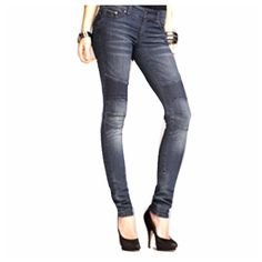 """Express moto Jeggings My favorite pants! I have had many days in these amazing jeggings. Since they are denim with a semi destructed look you can't even tell. My love for these must move on! Labeled 4; definitely fits like a 2. Stitched pattern above the knees make these an above average fun loving jean. 31"""" inseam, 7.5"""" rise  Absolutely no trades or holds   offers should be made through offer button  @chipmunksoledad on Instagram!  I ship 2-3 days each week   No animals harmed to create…"""