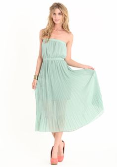 for the ladies Mint Dress, Dress P, Green Dress, Style Me, Strapless Dress, Cute Outfits, Comfy, Lady, Closet
