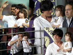 When AbRam watched his first cricket match with father Shah Rukh Khan – view pics #AbRam  #ShahRukhKhan