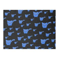Shop Black & Blue Kitty Pattern Fleece Blanket created by thepawkinglot. Creature Comforts, Edge Stitch, Pet Shop, Kittens Cutest, Cuddling, Colorful Backgrounds, Plush, Kitty, Kids Rugs