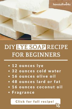 Do you know how to make lye soap? Find out how to make lye soap in this article from HowStuffWorks. Making Bar Soap, Soap Making Process, Soap Making Recipes, Diy Soap No Lye, How To Make Lye Soap, Homemade Soap Bars, Goat Milk Recipes, Handmade Soap Recipes, Home Made Soap