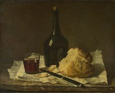 View: Imitator of Jean-Siméon Chardin, Still Life with Bottle, Glass and Loaf. Read about this painting, learn the key facts and zoom in to discover more. Canvas Art Prints, Canvas Wall Art, Art Gallery, Paint Photography, Food Painting, Still Life Photos, Galleries In London, European Paintings, Painting Still Life