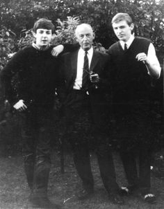 Paul McCartney, father James and brother Michael at home in Liverpool, 1961.