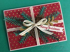 Stampin' Up! Christmas Pines & Pretty Pines Thinlits for The Heart of Christmas - Judy May, Just Judy Designs