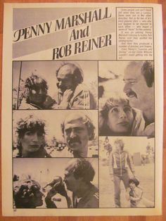 Laverne and Shirley, Penny Marshall, Rob Reiner, Full Page Vintage Clipping