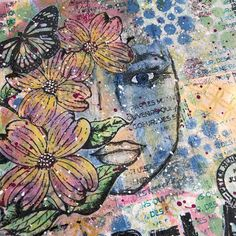 Addicted to Art: Journal Vibes Tracy Scott, Umbrella Man, Bird Silhouette, On October 3rd, Distressed Painting, Art Journal Pages, Distress Ink, Mini Books, Crazy Cats