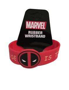 Deadpool My Common Sense Is Tingling Red PVC Rubber Wristband Marvel