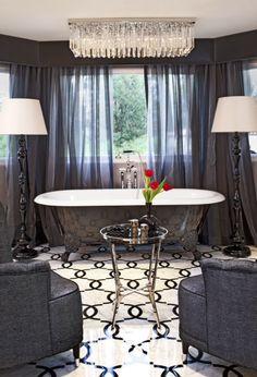 Hollywood Glam: Jeff Andrews Interpretation   The Perfect Bathroom interior design ideas and decor