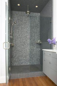 shower rock wall tile
