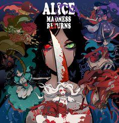Tags: Fanart, Alice In Wonderland, Pixiv, American McGee's Alice, White Rabbit, Maruco (Pixiv 1802310), Alice (American McGee's), American Mcgee's Alice: Madness Returns, Hysteria Alice, Siren Alice, Steampunk Alice, Misstiched Alice, Royal Alice, Silk Maiden Alice, Late But Lucky Alice
