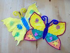 Gör fina fjärilar i bildundervisningen