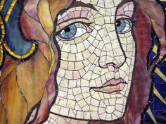 a detail from a mosaic by the Hungarian glass artist Miksa Roth