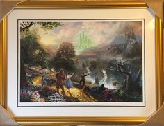 Thomas Kinkade Wizard of Oz Dorothy Discovers Emerald City 18x27S/N Cnvs FRAMED  | eBay