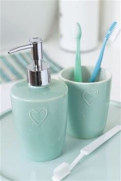 teal heart ceramic bathroom accessories next bath linen and accessories pinterest bathroom accessories bath linens and bath - Blue Bathroom Accessories Uk
