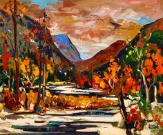 Bruno Côté - Haute-Gorges Fall Paintings, Autumn Painting, Bruno, Rainbow, Artists, Sea, Colors, Rainbows, Rain Bow