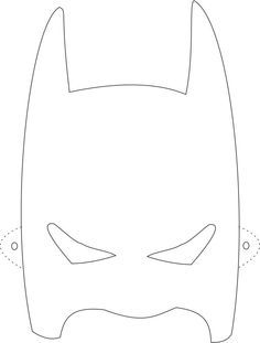 Free printable halloween masks for kids iron man mask to for Batman logo cake template