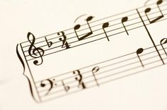 a staf of notes printed paper sheet music - free stock photo from www.freeimages.co.uk