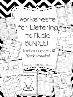 Music Listening Worksheet Bundle