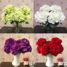 $4.86 Find More Decorative Flowers & Wreaths Information about Beautiful 5 Heads Artificial Silk Flower Mallorca Bunch Bouquet Home Wedding Party Floral Hydrangea,High Quality party time gift shop,China hydrangea wreath Suppliers, Cheap party balloons for you from E-Life Shooping Mall on Aliexpress.com