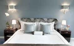 Shangri-La bedroom inspiration // gray & blue