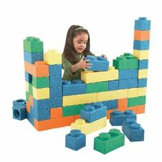 Chenille Kraft Large But Light Foam Gorilla Blocks by Chenille Kraft. $124.95. Imagine every kids' favorite block shape, only big...big...bigger! These safe foam blocks are sturdy enough for a child to stand on, yet lightweight enough for a three year old to stack. Build forts, towers, and structures, while developing creativity and reasoning skills. Kids will play with these for hours and hours, year after year! Set includes 66 blocks. For ages 3 and up. Colors ma...