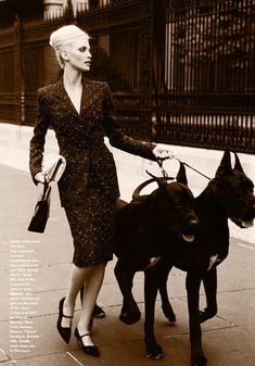 Nadja Auermann (Photography by Arthur Elgort)