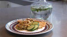 158eten Paleo Quiche, Avocado Egg, Chorizo, Pickles, Sprouts, Cucumber, Zucchini, Rice, Eggs