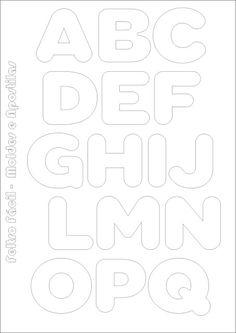 Sentía plantillas fáciles y tutoriales: Las letras del alfabeto molde para la producción de fieltro