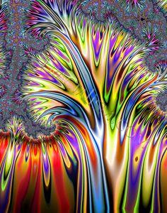 Paint fractals