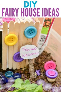 This fun DIY fairy house craft is a great way for kids to let their imaginations run wild and do a fun project with Mom. And you'll be surprised at how much fun you'll have helping them craft their house too! #DIY #crafts #kidscrafts #fairyhouse #artsandcrafts