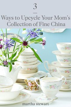 Put that inherited fine dishware to good use with one of these three ways to upcycle fine China around your home. See the full instructions for these creative home decor DIYs, or make one as a handmade gift for family members. #marthastewart #diydecor #diyprojects #diyideas #handmadegiftideas Plate Hangers, China Sets, Antique China, China Patterns, Serving Plates, Fine China, China Porcelain, Gifts For Family, Some Fun