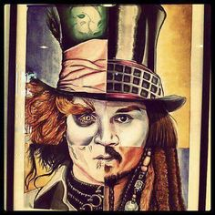 The Many Faces of Johnny Depp: The Mad Hatter, Willy Wonka, Captain Jack Sparrow, and Edward Scissorhands Johnny Depp Characters, Johnny Depp Fans, Here's Johnny, Tim Burton, Johnny Depp Personajes, Face Collage, Harry Potter, Pirates Of The Caribbean, Geeks