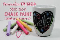 Taza decorada con Chalk Paint, pintura pizarra. Tutorial paso a paso...