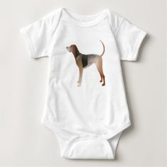 American English Coonhound Dog Silhouette Baby Bodysuit