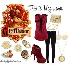 """Gryffindor's Trip to Hogsmeade"" by nearlysamantha on Polyvore"