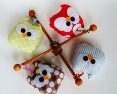 A personal favorite from my Etsy shop https://www.etsy.com/listing/80699086/4-mini-owls-with-ribbons