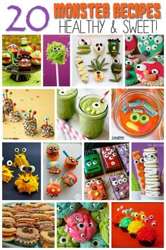 20 Monster Recipes and Snacks for Kids