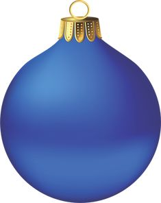 Transparent Christmas Blue Ornament Clipart