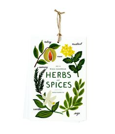 2014 Herbs and Spices Wall Calendar - Rifle Paper Co - Christmas and Planners - Telegram Paper Goods I'm pretty excited for this calendar... and 2014 is only 5 months away!