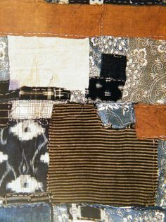 African vintage fabric patchwork!