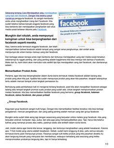 Topa nih tentang Cara menghasilkan mendapatkan uang dari facebook