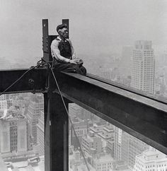 RKO Building construction (renamed as the GE Building) New York 1932 - Charles C. Ebbets photo