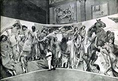 Giulio Aristide Sartorio al lavoro. Il dipinto si trova nel palazzo del parlamento italiano, Palazzo Montecitorio Art History Major, Figure Sketching, Biblical Art, Traditional Paintings, Italian Art, 2d Art, Renaissance Art, Cool Paintings, Horse Art