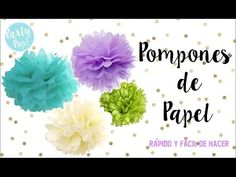 YouTube Party Pops, Diy Videos, Baby Showers, Frozen, Flowers, Mardi Gras, Paper Rosettes, Paper Flowers, Make Paper