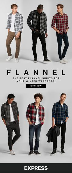 Stay warm all winter with flannel shirts from Express. Keep your graphic tees in rotation even in the winter by layering on a flannel shirt. For extra cold nights, top off a thermal tee or Henley with a flannel shirt.