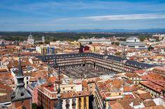 esta imagen única de Madrid. desde  la Torre de la Iglesia de Santa Cruz