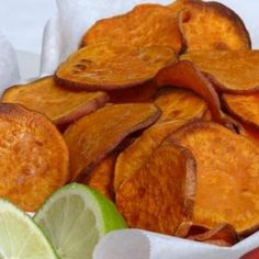 Sweet Potato Chips With a Hint Of Lime