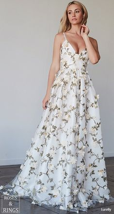 Lurelly bohemian wedding dress 3d-floral #weddings #dresses #weddingdresses #weddingideas #weddinginspiration